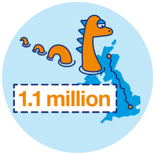 1.1 millions steps