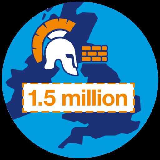 1.5 million steps