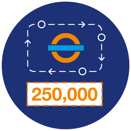 250,000 steps